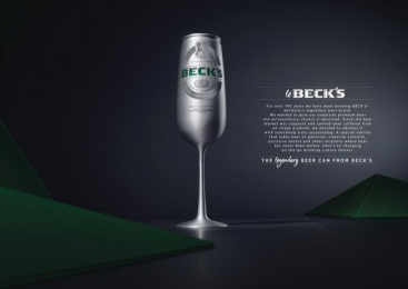 Beck's: Le Beck's: The legendary beer can [Supporting Images] 4 Design & Branding by Serviceplan Munich