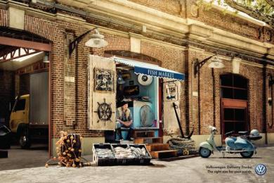 Volkswagen Trucks: Fish Market Print Ad by ALMAP BBDO Brazil