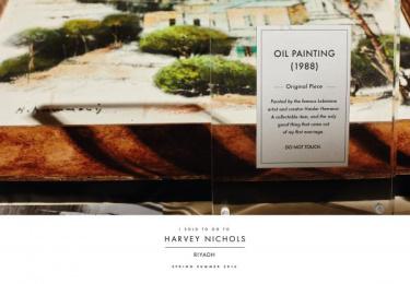 Harvey Nichols: Oil painting Print Ad by Lowe Mena Dubai