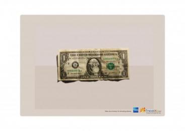 American Express: 1 DOLLAR Outdoor Advert by Ireland/Davenport