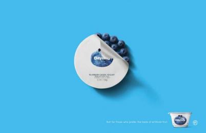 Odyssey Greek Yogurt: Blueberry Print Ad by STIR Milwaukee
