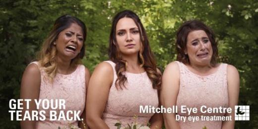 Mitchell Eye Centre: Bridesmaids Outdoor Advert by Wax