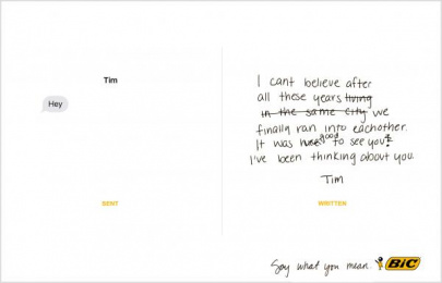 Bic: Say what you mean, 4 Print Ad by Miami Ad School