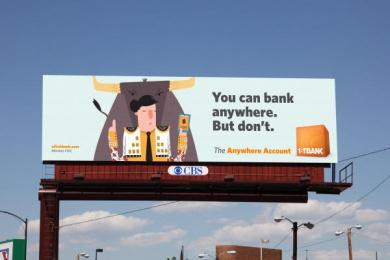 Firstbank: Bullfighter Outdoor Advert by TDA_Boulder