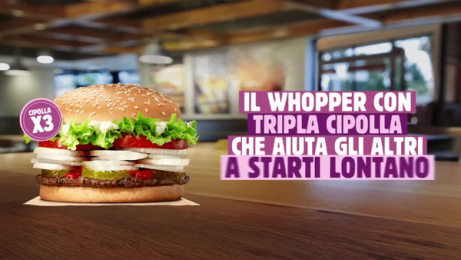 Burger King: Social Distancing Whopper, 1 [video] Film by Wunderman Thompson, Italy