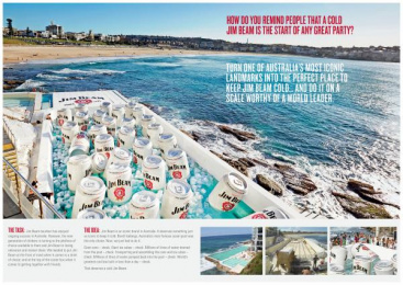 Jim Beam: WORLD'S LARGEST ESKY COOLER Outdoor Advert by The Works Sydney