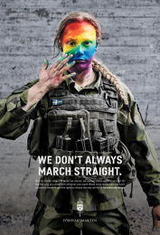 Swedish Armed Forces (SwAF): We Don't Always March Straight, 1 Print Ad by Volt