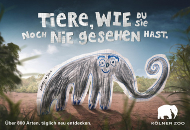Zoo Cologne: Kids Drawings, 3 Print Ad by Preuss Und Preuss Germany