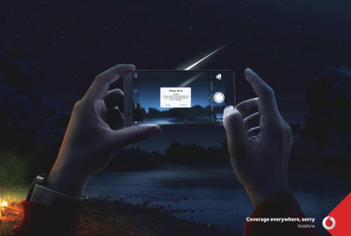Vodafone: Sorry / Meteor  [image] Print Ad by Team Red Istanbul