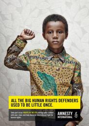 Amnesty International: Little Mandela Print Ad by Air Brussels