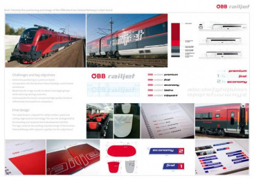 Premium High-speed Train: ÖBB RAILJET Print Ad by Spirit Design