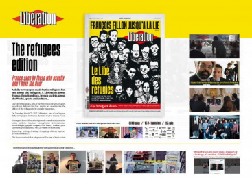 Liberation: Libé des réfugiés [image] 2 [alternative version] Print Ad by Fred & Farid Paris