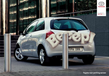 Toyota: Rear Parking Sensor Outdoor Advert by Marketway Nicosia