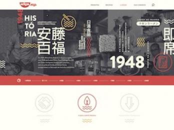Nissin: Celebrating 50 Years in Brazil (Website) Digital Advert by F/Nazca Saatchi & Saatchi Sao Paulo