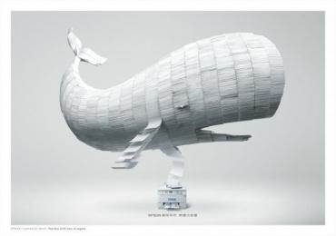 Epson Printer: Whale Print Ad by ADK Taipei