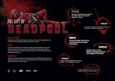 Deadpool: The Gift of Deadpool [Campaign One-Sheet] Film by Viacom Velocity New York