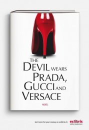 Ex Libris: The Devil Wears Prada Print Ad by Ruf Lanz