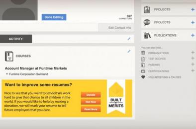 Pencils of Promise: Built by Merits Digital Advert by Berghs School of Communication / Stockholm