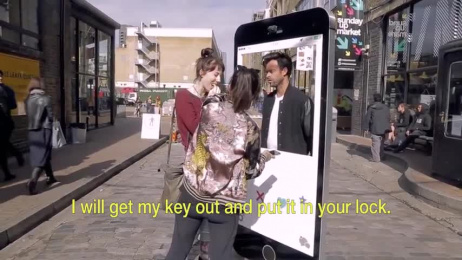 TrueView: Know This guy took Tinder chat to the streets Ambient Advert by Don't Panic London