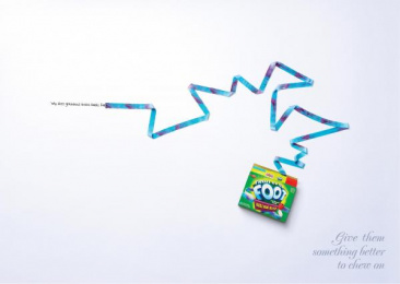 Fruit By The Foot: GRANDMA'S Print Ad by Saatchi & Saatchi New York