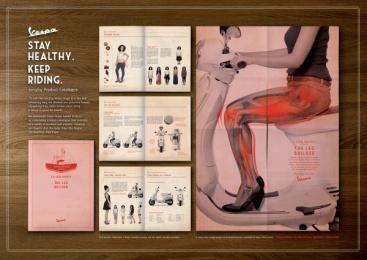 Vespa Scooter: THE LEG BUILDER Design & Branding by Y&R Kuala Lumpur
