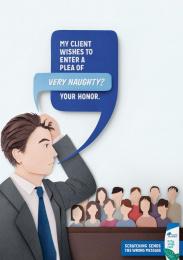 Head & Shoulders: Lawyer Print Ad by Saatchi & Saatchi New York