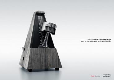 Audi Service: Metronome Print Ad by Verba DDB Milan