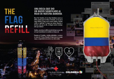 Cruz Roja Colombiana: The flag refill [spanish image] Ambient Advert by McCann Worldgroup Colombia