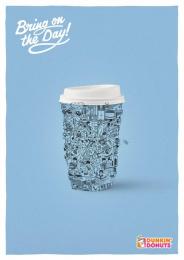 Dunkin Donuts: Work Print Ad by Y&R Vienna