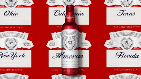 Budweiser: BUDWEISER SUMMER 2017 LTO STATE PACKAGING , 1 Design & Branding by Jones Knowles Ritchie New York