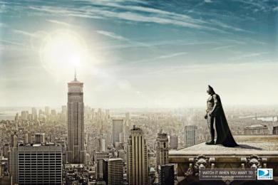 Directv Plus: Batman Print Ad by Leo Burnett Bogota