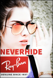 Ray-ban: Neverhide Print Ad by Image Work
