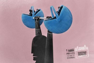 Gustavo Borges: Prepares - Weigth Print Ad by Heads Propaganda