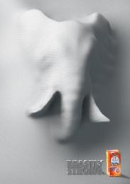Hefty: Beastly strong - Elephant Print Ad by Miami Ad School Miami