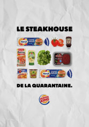 Burger King: Le Whopper de la Quarantaine, 1 Outdoor Advert by Buzzman Paris