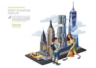 Bankia: New York Print Ad by CLV Madrid
