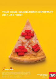 Legoland: Pizza Print Ad by Team collaboration