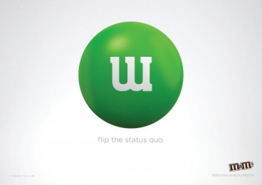 M&M's: Women's Status Quo Print Ad by BBDO New York, HouseSpecial