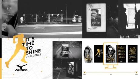 Mizuno: It's Time to Shine Challenge Outdoor Advert by F/Nazca Saatchi & Saatchi Sao Paulo, Saatchi & Saatchi Los Angeles