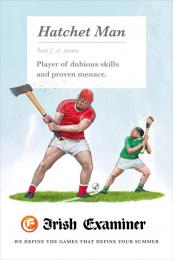 Irish Examiner: Hatchet Man Print Ad by Chemistry Dublin