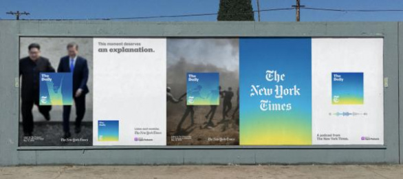 The New York Times: This Moment Deserves to be Understood, 3 Outdoor Advert