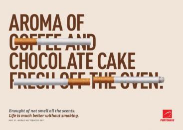 Portonave: Aroma of Chocolat Cake Print Ad by D/Araujo