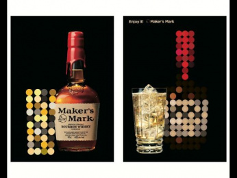 Maker's Mark: Lighting Sheet Poster - Sphere Outdoor Advert by Hakuhodo Tokyo, SIX Tokyo, Tohokushinsha Film Corporation