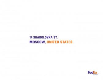 Fedex: Russia Print Ad by Brother Ad School Santo Domingo