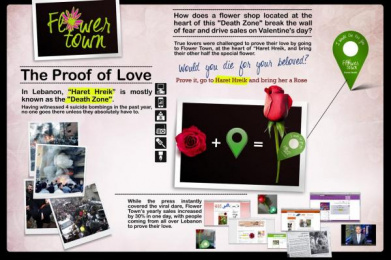 FLOWER TOWN: THE PROOF OF LOVE, 2 Case study by Impact BBDO Beirut