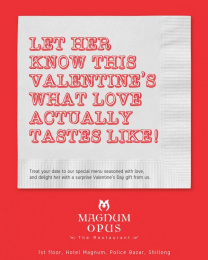 Magnum Opus The Restaurant: Taste Love Print Ad by Black Sheep