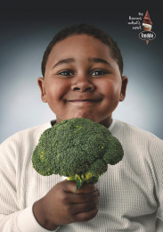 Freddo: Kids and Vegetables, 2 Print Ad by Y&R Buenos Aires