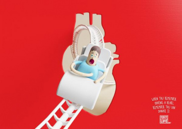 Donate Life: Remember - Heart Print Ad by Miami Ad School Buenos Aires