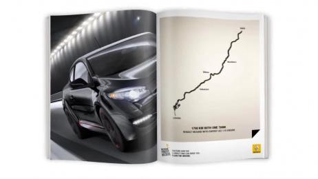 Renault Megane: Single tank destinations Ambient Advert by Marcel Paris
