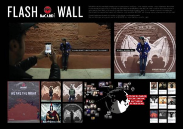 Bacardi: Bacardi Flash Wall [presentation image] Outdoor Advert by BBDO New York